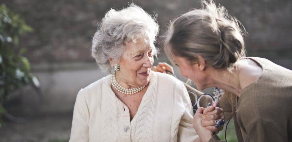 Oma und Betreuerin